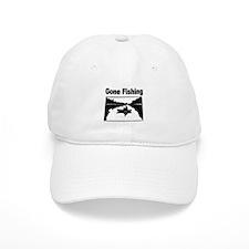 Gone Fishing Baseball Baseball Cap