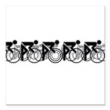 Cycling race Square Car Magnets