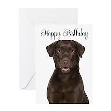 Chocolate Lab Birthday Card
