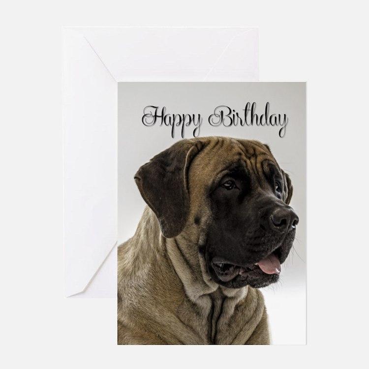 Mastiff Birthday Card