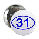 Number 31 Oval Button