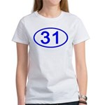 Number 31 Oval Women's T-Shirt