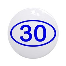 Number 30 Oval Ornament (Round)
