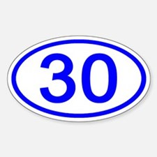 Number 30 Oval Oval Decal