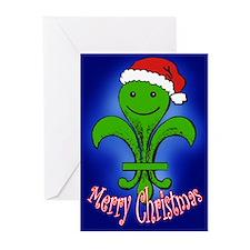 Cute Fleur de Lis Christmas Cards (pk of 10)