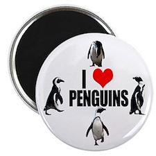 Cute I heart penguins Magnet