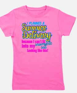 Cute Snowmobile baby Girl's Tee