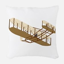 wrightflyer.png Woven Throw Pillow