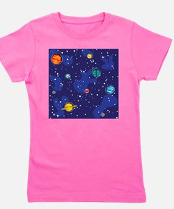 solar system back.png Girl's Tee