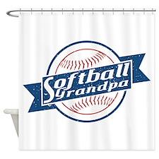 Softball Grandpa Shower Curtain