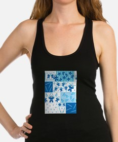 blue_ninja_fabric.png Racerback Tank Top