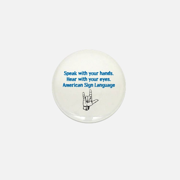 Cute Asl Mini Button