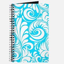 Turquoise & White Swirls Journal