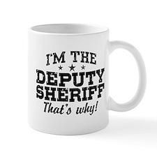 Funny Deputy Sheriff Small Mug