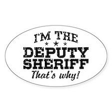Funny Deputy Sheriff Decal