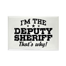 Funny Deputy Sheriff Rectangle Magnet