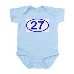 Number 27 Oval Infant Bodysuit