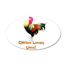 Chicken Lovers Unite! Wall Decal