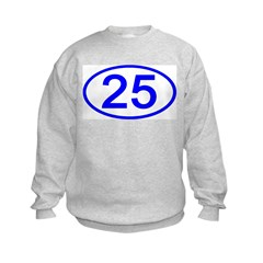 Number 25 Oval Sweatshirt