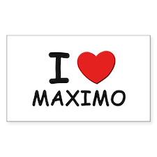 I love Maximo Rectangle Decal