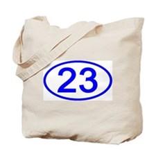 Number 23 Oval Tote Bag