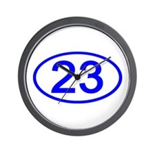 Number 23 Oval Wall Clock