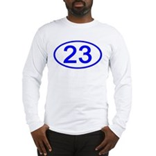 Number 23 Oval Long Sleeve T-Shirt