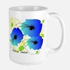 Retired Teacher Floral Mug