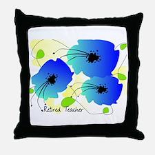 Retired Teacher Floral Throw Pillow