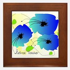 Retired Teacher Floral Framed Tile