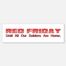 Red Friday (2) Bumper Car Car Sticker