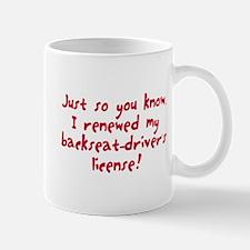 Renewed backset-driver's license Mug