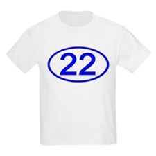 Number 22 Oval Kids T-Shirt