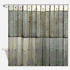 Rustic Rusty Tin Grunge Shower Curtain