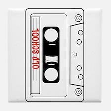 Retro Old School Cassette Tape Tees Tile Coaster