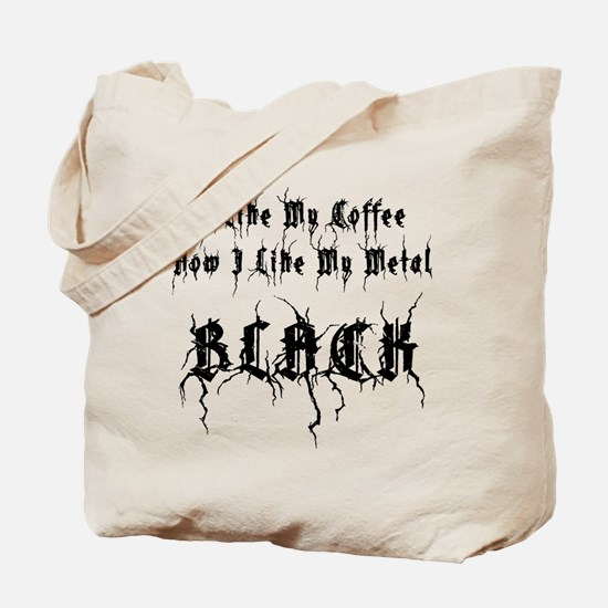 Black Metal And Black Coffee Tote Bag