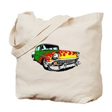 This 56 Bel air is on fire! Tote Bag