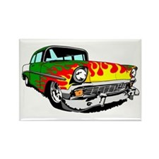 This 56 Bel air is on fire! Rectangle Magnet