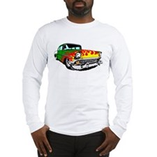 This 56 Bel air is on fire! Long Sleeve T-Shirt