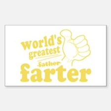 Worlds Greatest Farter Decal