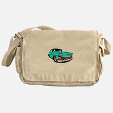 56 Bel Air 2 Door in Powder Blue Messenger Bag