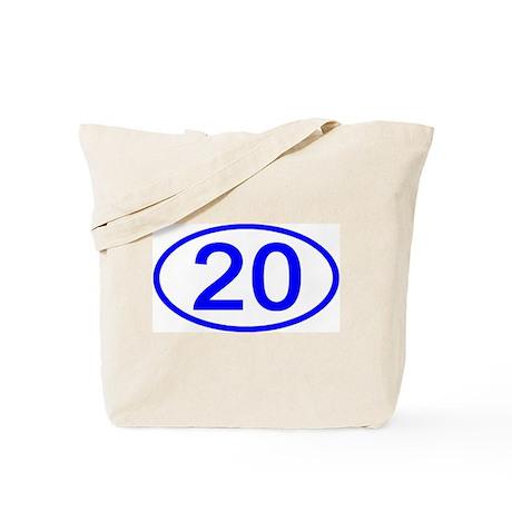 Number 20 Oval Tote Bag