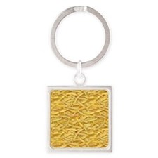 Free Fries Square Keychain
