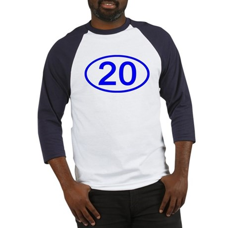 Number 20 Oval Baseball Jersey