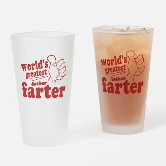 Worlds Greatest Farter Drinking Glass
