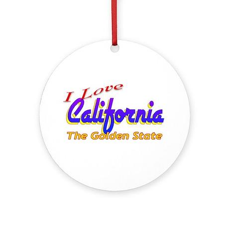 I Love California Ornament (Round)