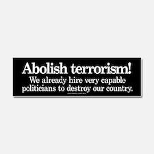 Abolish Terrorism Car Magnet 10 x 3