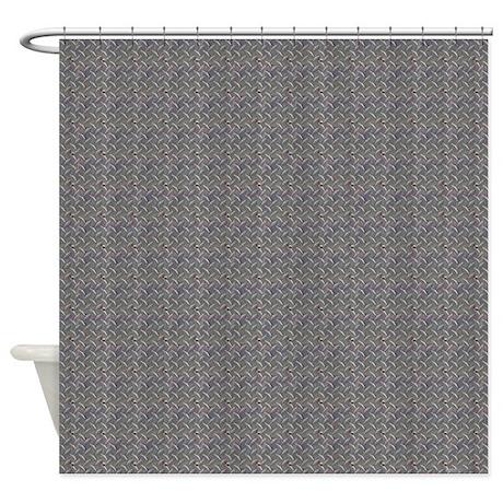 Diamond Metal Plate Industrial Shower Curtain By Rebeccakorpita