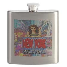 new york city girl Flask