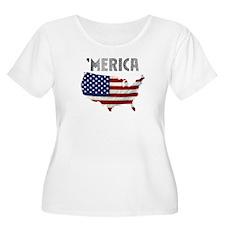 MERICA Plus Size T-Shirt
